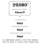 Ad urging construction of new university in Tampa by University of South Florida