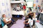 Female students in dorm room, circa 2004