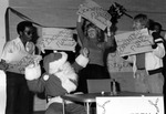 Employee skit at holiday party, 1983