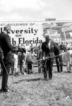 Gov. LeRoy Collins turning the first soil at USF groundbreaking ceremony