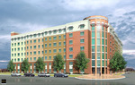 Drawing of first residence hall for USF St. Petersburg